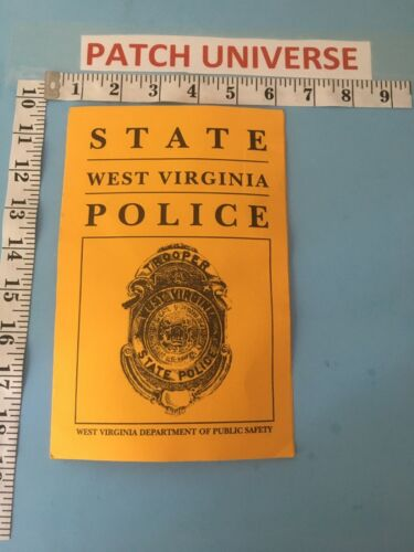 OFFICIAL BOOKLET WEST VIRGINIA  STATE  POLICE  INCLUDES  PATCH    G058