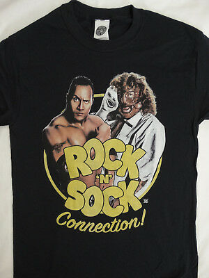 The Rock And Sock Connection Dwayne Johnson Mick Foley Wwe Wrestling T Shirt