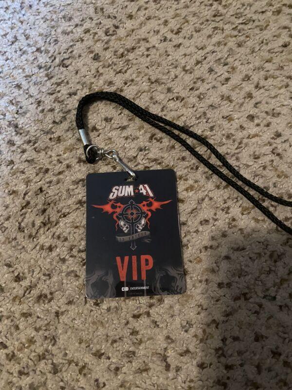Sum 41 13 Voices VIP Pass Meet And Greet Rare