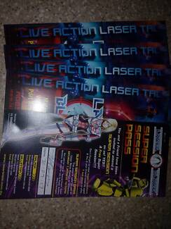 5 laser blaze super session passes for you & a friend