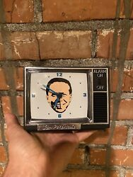 Vintage Portland Wrestling Tom Peterson TV  Alarm Clock With Original Box