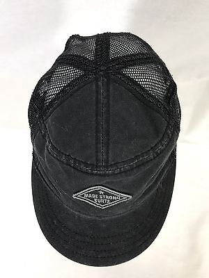 0e858f4f698 A. Kurtz Military Baseball Mesh Cap Made Strong Black Trucker Hat NWT