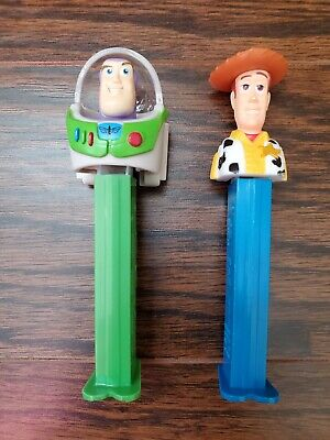 2 Toy Story Pez Dispensers Woody and Buzz lightyear