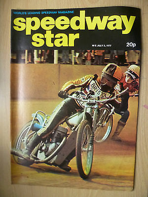 VINTAGE SPEEDWAY STAR MAGAZINE, Vol. 26, No. 14, 2 JULY 1977