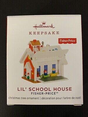 Hallmark 2019 Ornament LIL' SCHOOL HOUSE Miniature Fisher Price NIB