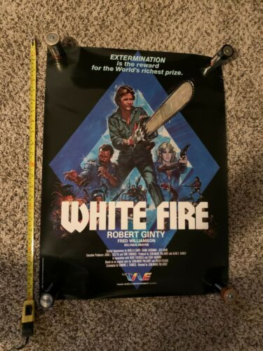 Original 1984 WHITE FIRE Movie Poster, Rolled - Fred Williamson SUPER RARE!