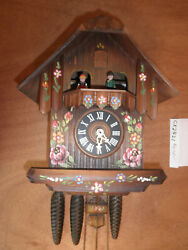 Cuckoo Clock German NIGHT SHUT OFF working SEE VIDEO Musical Chalet 1 Day CK2421