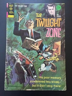 The TWILIGHT ZONE Rod Serling GOLD KEY Comic Mar 1974 No. 55 Good Condition