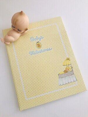 1970's Vintage CR GIBSON Baby's Book Milestones Album Memory Book Birth to 7 Yrs