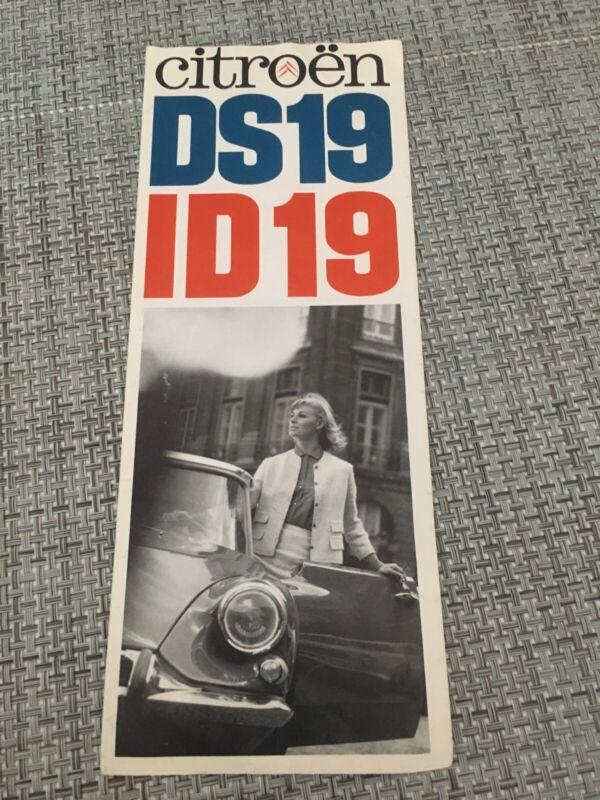 Vtg Citroen DS19 ID19 New York Beverley Hills Auto Car Dealer Sales Brochure