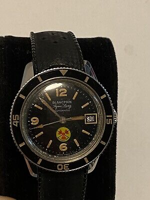 Blancpain Aqua-Lung Fifty Fathoms Vintage 1960's Amazing Cond Diver Men's Watch