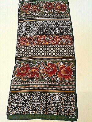 Vintage Scarf Styles -1920s to 1960s Vintage Adolfo Silk Scarf $4.00 AT vintagedancer.com