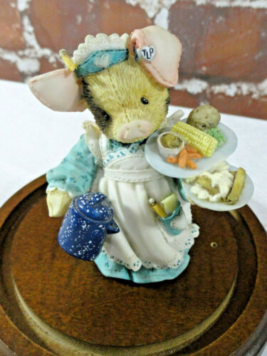 VINTAGE TLP tender loving pig *SERVING UP THE SLOP* by enesco 1995 edition~CUTE