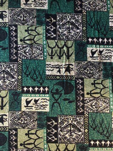 Rare Vintage Abstract Tribal Mid Century Modern Trans Pacific Textiles Barkcloth