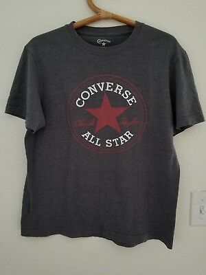 Converse All Star Chuck Taylor Size Small S  Gray Short Sleeve Mens T-Shirt (All Star Mens T-shirt)