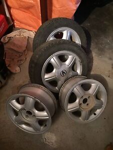 Rims and (2) winter tires