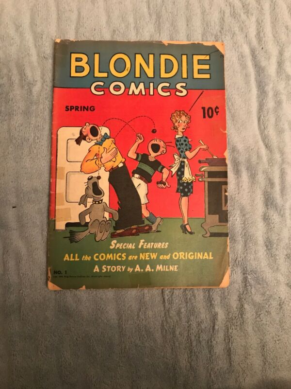 Blondie Comics #1 Rare Golden Age Comic Lower Grade Complete And Taped