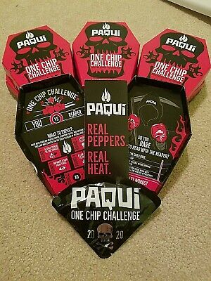 PAQUI One Chip Challenge - EXTREMELY HOT - Carolina Reaper Pepper - Black Chip