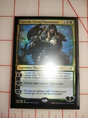 Garruk, Cursed Huntsman 191/269 - Foil Near Mint MTG Throne of Eldraine