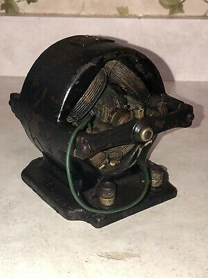 Voltamp Small Electric Bipolar Vintage Antique Open Frame Motor
