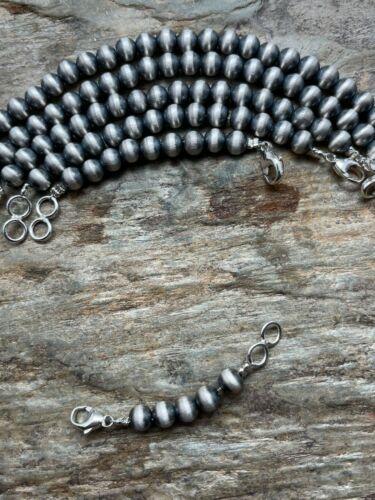 Sterling silver 6 mm Navajo pearls extenders