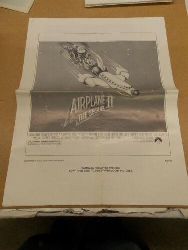 AIRPLANE II(1982)ROBERT HAYES ORIGINAL AD MATT SECTION HUGE NICE!