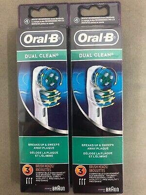 6x 6 Pcs Braun Oral-B Dual Clean Toothbrush Replacement Heads  USA Brush Braun Oral B Replacement Brush