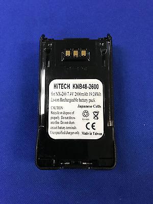 Hitech Battery For Kenwood Knb-48ljapan Liion7.4v2.6anexedge Nx200nx300...eq