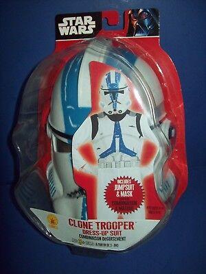 Star Wars HALLOWEEN COSTUME - CLONE TROOPER jumpsuit +  mask size 8 -10 - Clone Trooper Uniform