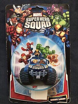 Marvel SuperHero Squad Kids Night Light W/ Bulb - Spider-Man Iron Man Hulk
