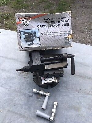Buffalo Two Way Cross Slide Vise Clamp 3 Adjustable Machinist Press Work Bench