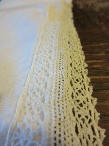 antique vintage french linen pillow case sham handmade fine lace
