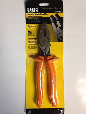 Klein D213-9necr-ins Insulated Side Cutting Pliers-connector Crimping