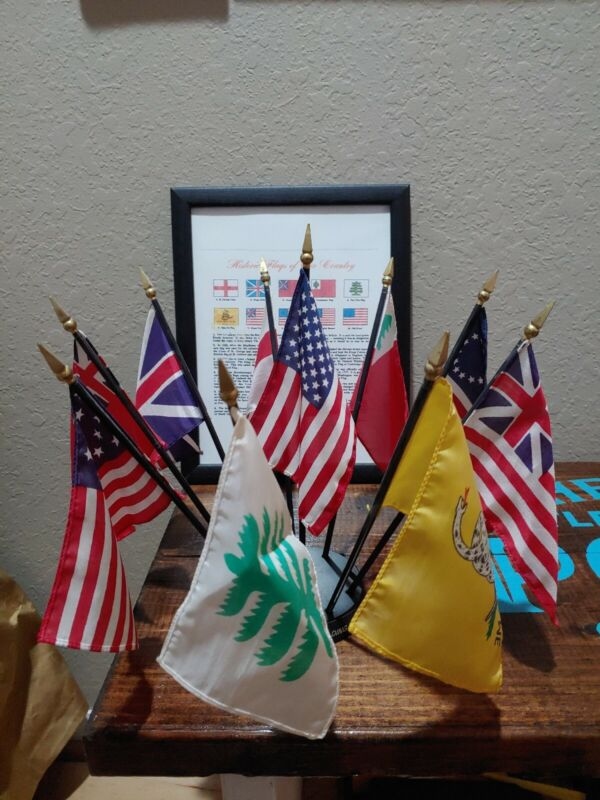 Flags Of Our Country Display With Wall Art