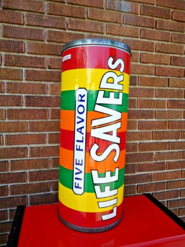 "Vtg, POP ART Large 25"" Life Savers Candy Advertising Store Display / 1946 Design"
