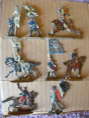 alte Flachzinnfiguren, diverse Fahnenträger, u.a.
