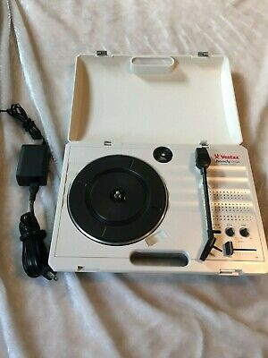 Vestax Handy Trax Portable Turntable Audio Record Player w/AC adap White Tested!