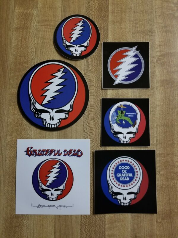 6 Grateful Dead Stickers. Steal Your Face.