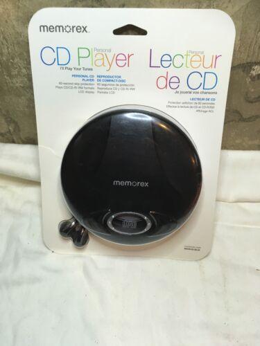Memorex MD6451 CD Player - Black - LCD - CD-DA