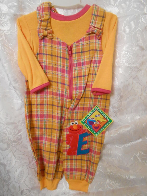2 Piece Girl's Sesame Street Elmo Outfit Sizes Vary
