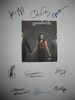 The Good Wife Signed TV Script X9 Julianna Margulies Josh Charles Chris Noth rpt