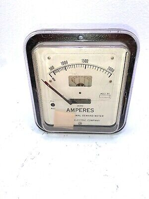 Sangamo Electric Lincoln Demand Meter 5 Amps 0-2000 Amperes 79036