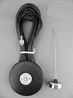 New Motorola Vhf Mobile Magnetic Mount Nmo Antenna Kit