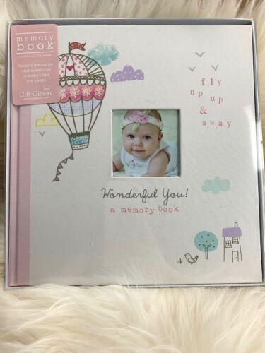 BRAND NEW C.R. GIBSON BABY GIRL PINK MEMORY PHOTO ALBUM BOOK SCRAPBOOK