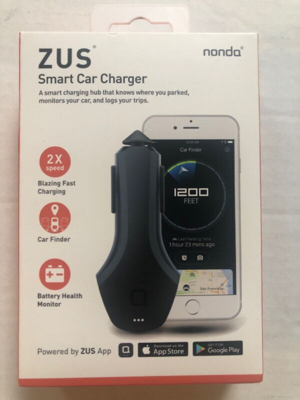 nonda ZUS Smart Car Hub USB Charger Car Locator Finder Mileage Log Battery Monit