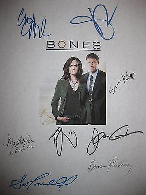 Bones Signed TV Script X8 Emily Deschanel David Boreanaz Michaela Conlin reprint