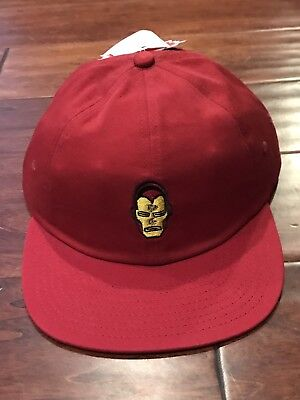 Vans X Off The Wall Marvel Burgundy Chili Pepper Iron Man Hat O/S NWT](Chili Pepper Hats)