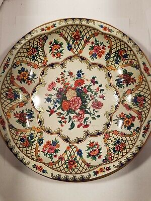 Vintage 1971 Daher Decorated Ware-Made In England Tin Bowl FLOWERS #951942 for sale  South Jordan