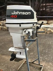 Johnson 40 hp outboard in great running condition. Caravonica Cairns City Preview