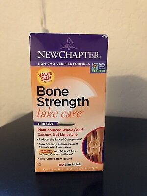 New Chapter Bone Strength Take Care 180 Vegetarian Slim Tabs GF